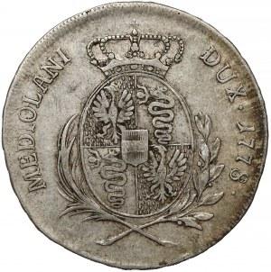 Włochy, Księstwo Mediolanu, Maria Teresa, 1/2 scudo 1778 LB