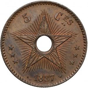 Kongo belgijskie, Leopold II, 5 centimes 1887