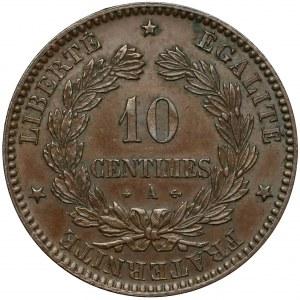 Francja, 10 centimes 1871-A