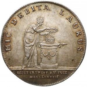 Niemcy, Frankfurt, Franciszek II, Odbitka w srebrze dwudukata 1792 - koronacyjny