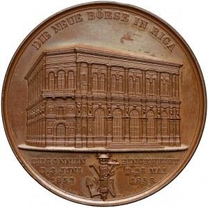 Łotwa, Ryga, Medal otwarcie giełdy 1856 (Loos / Kullrich)
