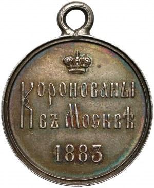 Rosja, Aleksander III, Żeton koronacyjny 1883