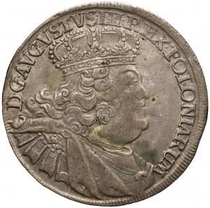 August III Sas, Ort Lipsk 1756 EC - duża głowa