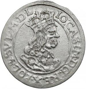 Jan II Kazimierz, Szóstak Kraków 1662 AT - obwódka na awersie