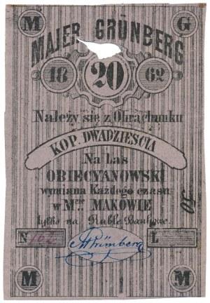 Maków, Majer Grünberg, 20 kopiejek 1862