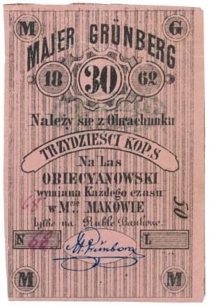 Maków, Majer Grünberg, 30 kopiejek 1862