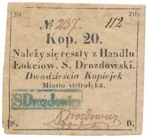 Ostrołęka, S. Drozdowski, 20 kopiejek (XIX w.)