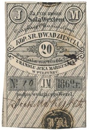Pułtusk, Jcek Markusfeld, 20 kopiejek 1862