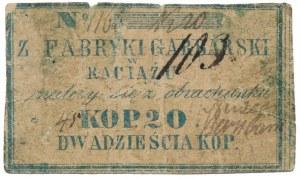 Raciąż, Fabryka Garbarska, 20 kopiejek (XIX w.)
