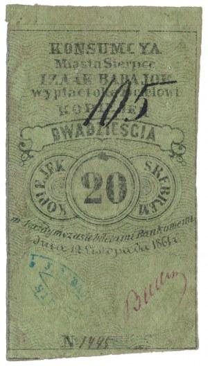 Sierpce, Izaak Badajor, 20 kopiejek 1861