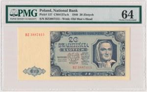 20 złotych 1948 - BZ