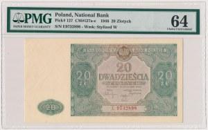 20 złotych 1946 - E - duża litera