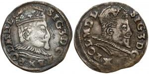 Zygmunt III Waza, Trojaki Lublin 1595 (2szt)