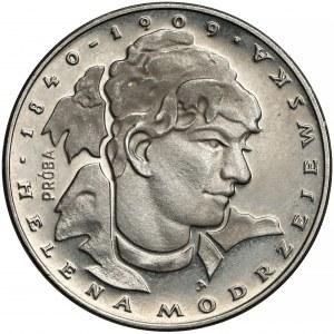 Próba NIKIEL 100 złotych 1975 Modrzejewska - duża głowa