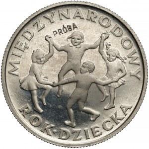 Próba NIKIEL 20 złotych 1979 Rok Dziecka - PRÓBA niżej
