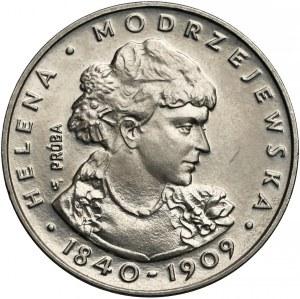 Próba NIKIEL 100 złotych 1975 Modrzejewska - mała głowa