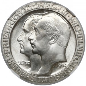 Niemcy, Prusy, 3 marki 1910 - Uniwersytet w Berlinie
