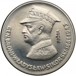 Próba NIKIEL 50 złotych 1981 Sikorski