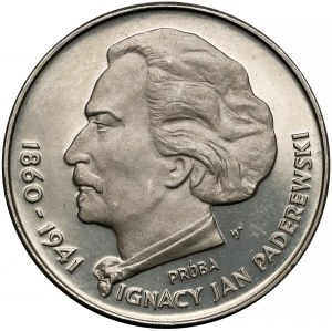 Próba NIKIEL 100 złotych 1975 Paderewski