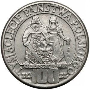 Próba NIKIEL 100 złotych 1960 Mieszko... postacie - bez deseniu