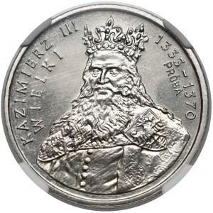 Próba NIKIEL 100 złotych 1987 Kazimierz III Wielki