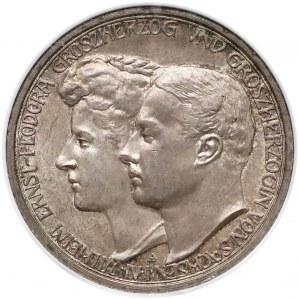 Niemcy, Saksonia-Weimar-Eisenach, 3 marki 1910 - zaślubinowe