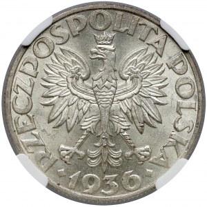 Żaglowiec 5 złotych 1936