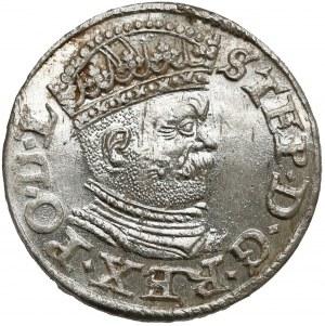 Stefan Batory, Trojak Ryga 1586 - PIĘKNY