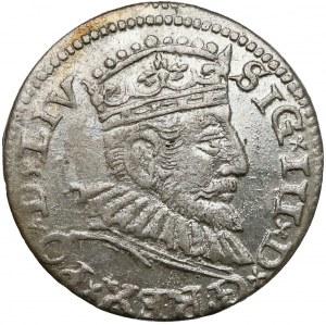 Zygmunt III Waza, Trojak Ryga 1593 - bardzo ładny
