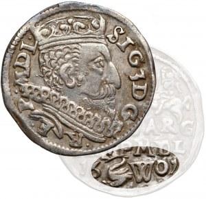 Zygmunt III Waza, Trojak Wilno 1601 - Łabędź i litera W - b. rzadki