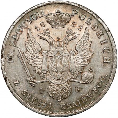 10 złotych polskich 1822 IB - rzadkie