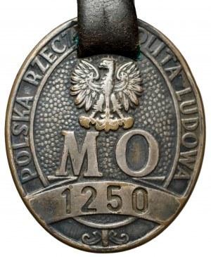 Odznaka MO 1250 Polskiej Rzeczpospolitej Ludowej