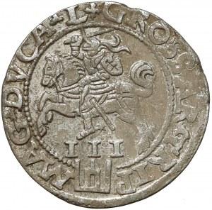 Zygmunt II August, Trojak Wilno 1562 - duża Pogoń