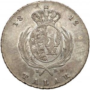 Księstwo Warszawskie, Talar 1812 IB - bardzo ładny