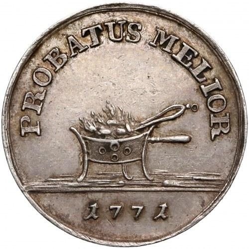 Poniatowski, PRÓBA złotówka 1771 - tygiel - piękny