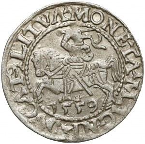 Zygmunt II August, Półgrosz Wilno 1559 - A bez belki - rzadki