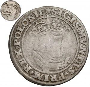 Zygmunt I Stary, Trojak Kraków 1528 - Orzeł w lewo - RZADKOŚĆ