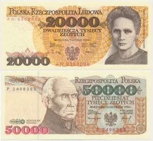 20.000 i 50.000 złotych 1989-1993 (2szt)