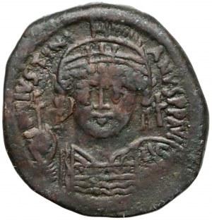 Bizancjum, Justynian I 527-565r. n.e. Follis 545/546r. (19 rok panowania), Konstantynopol