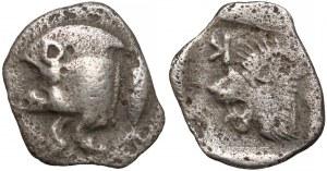 Grecja, Mezja, Kyzikos, Obol, 450-400r. p.n.e.