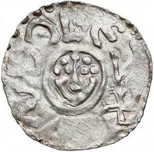 Bolesław III Krzywousty, Denar Wrocław (przed 1107) - głowy