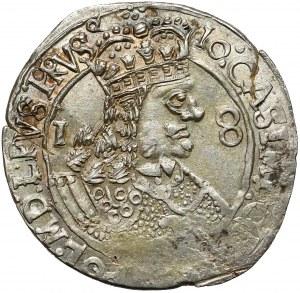 Jan II Kazimierz, Ort Lwów 1656 - GWIAZDY - bardzo ładny