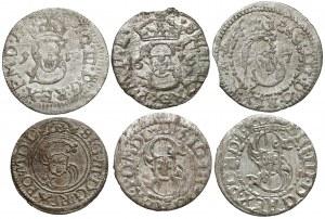 Zygmunt III Waza, Szelągi Wilno i Ryga 1615-1624 (6szt)