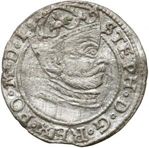 Stefan Batory, Grosz Ryga 1581 - brama - pełna data