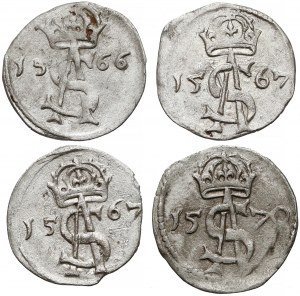 Zygmunt II August, Dwudenary Wilno 1566-1570 (4szt)