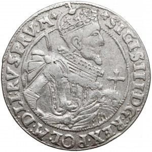Zygmunt III Waza, Ort Bydgoszcz 1623 - labry z krzyżem