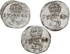 Zygmunt II August, Dwudenary Wilno 1566-1569 (3szt)