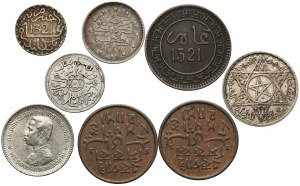 Islam, zestaw monet mix (8szt)