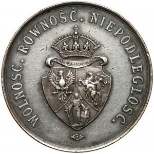 1863 r. Medal SREBRO Uwłaszczenie Włościan