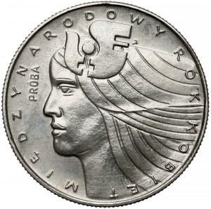 Próba NIKIEL 20 złotych 1975 Rok Kobiet - głowa